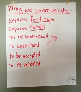 Why We  Communicate